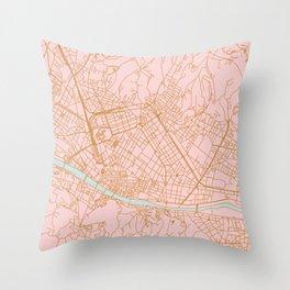 Firenze map Throw Pillow