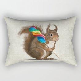 Squirrel with lollipop Rectangular Pillow