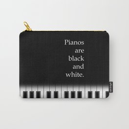 Pianos are black and white - modern, elegant keyboard Carry-All Pouch