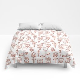 Pattern in Nordic Floral Style #3 Comforters
