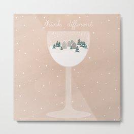 a glass of snow Metal Print