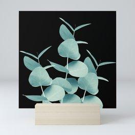 Eucalyptus Leaves Green Black #1 #foliage #decor #art #society6 Mini Art Print