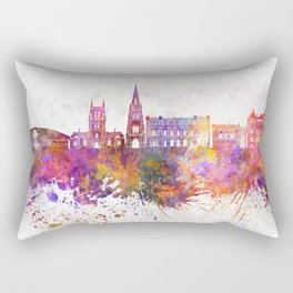 Blackburn skyline in watercolor background Rectangular Pillow