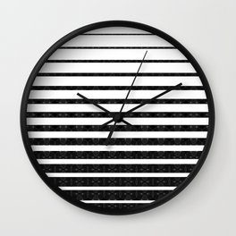 Spirograph on stripes - 1 Wall Clock