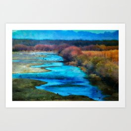 Monet's Rio Las Cruces New Mexico Art Print