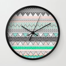 CHEVRON MOTIF Wall Clock
