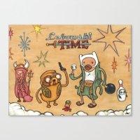 lebowski Canvas Prints featuring Lebowski Time by Alex Willan
