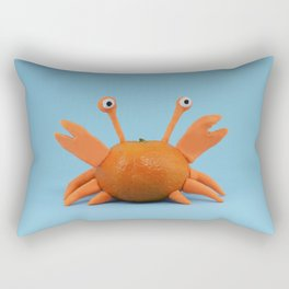 Crab tangerine Rectangular Pillow