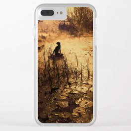 Silhouette on the lake Clear iPhone Case