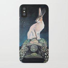 Midnight Tortoise and Hare iPhone Case