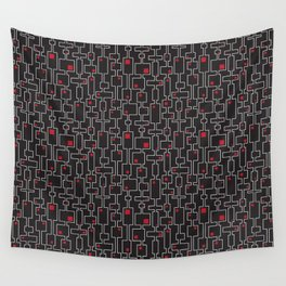 Red squares Wall Tapestry