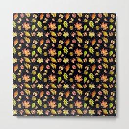 Autumn Forest pattern Metal Print