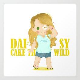 Daisy - Chibi Version Art Print