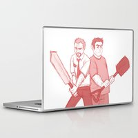 shaun of the dead Laptop & iPad Skins featuring shaun of the dead by Marie Mikolay