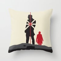 skyfall Throw Pillows featuring Skyfall by Geminianum