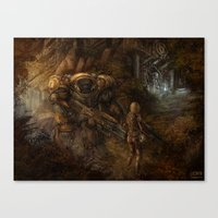 starcraft Canvas Prints featuring Chance Encounter with the 9th Order of Beelzebub by DerekRestivo