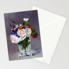 Edouard Manet Flowers in a Crystal Vase Stationery Cards