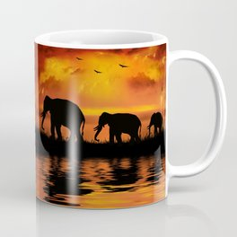 Elephant Safari Coffee Mug