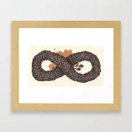 fur infinity Framed Art Print