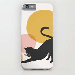 Abstraction_CAT_PLAY_CIRCLE_Minimalism_001A iPhone Case