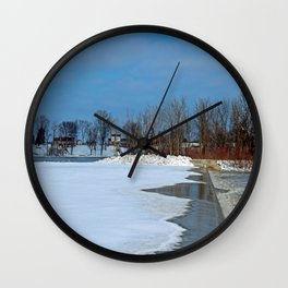 Winter's Appetite Wall Clock