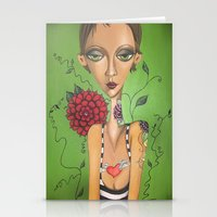 charmaine Stationery Cards featuring Tattooed by Charmaine D'Silva