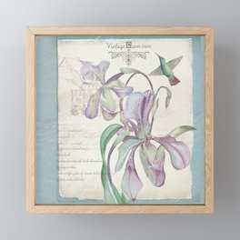Vintage Purple Lily Postcard Framed Mini Art Print