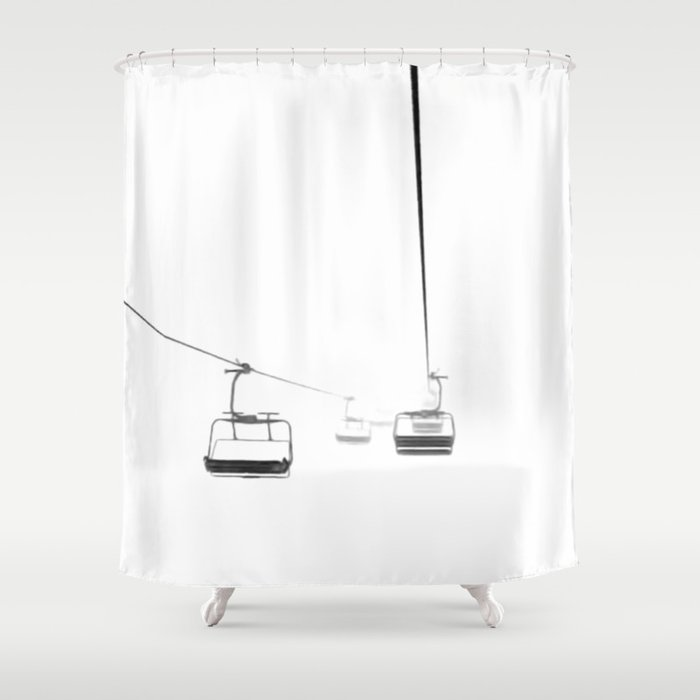 Lifts From And To Nowhere Shower Curtain