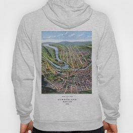 CUMBERLAND MARYLAND city old map Father Day art print poster Hoody