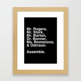 Tribute 1 - Avengers Framed Art Print