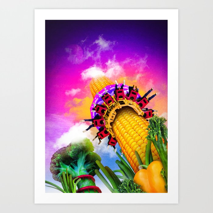 Corn & Raised Art Print