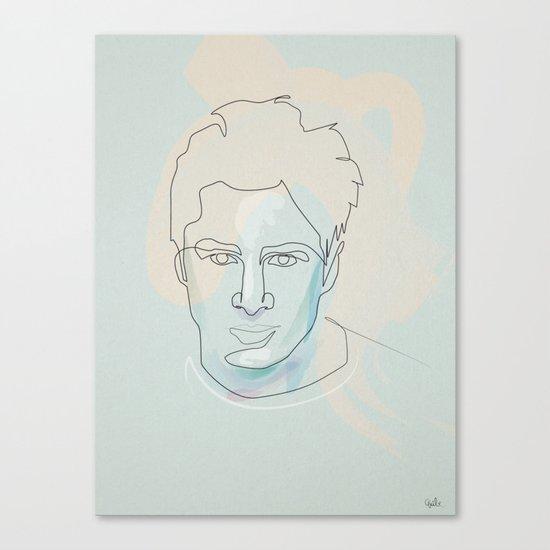 one line Scrubs:« J.D. » Dorian Canvas Print