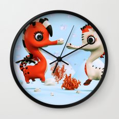 Sea Love Wall Clock