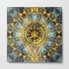 Sacred Geometry Fractal Mandala Metal Print