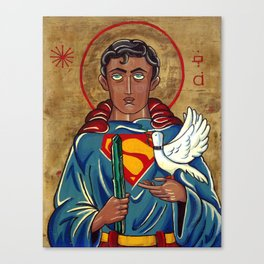 The Nature of Heroes-Icon of Superman after St. Francis.  Canvas Print