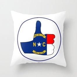 Thumbs Up North Carolina Throw Pillow