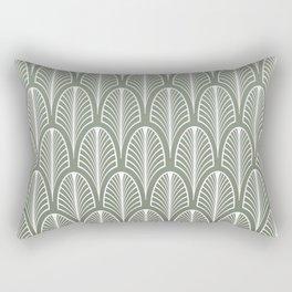 Art Deco Pattern Mint Green Rectangular Pillow