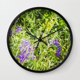 Wild Delphinium Bliss Wall Clock