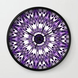 Purple White Black Explosion Wall Clock