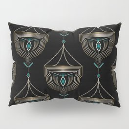 "Art Deco . ""Gold pendants "". Pillow Sham"
