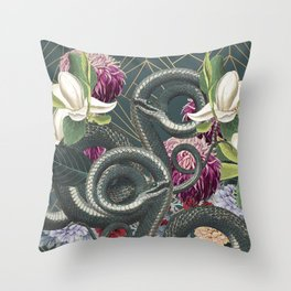 Tangled snakes Throw Pillow