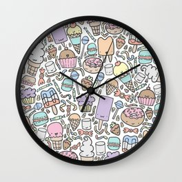 Kawaii Sweet Treats Wall Clock