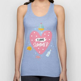 I Love Summer Unisex Tank Top