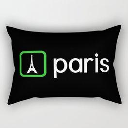Eiffel Tower, Paris (Green) Rectangular Pillow