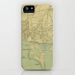 Vintage Map of Port Au Prince Haiti (1899) iPhone Case