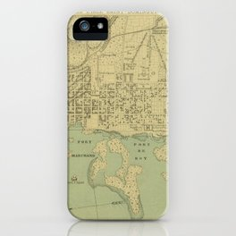 Vintage Map of Port Au Prince Haiti (1899) iPhone Case