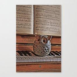the pianos Owl Canvas Print