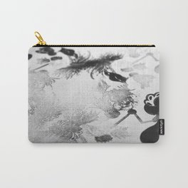 black and white floc Carry-All Pouch