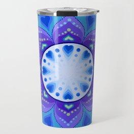 White Light Within Mandala Travel Mug
