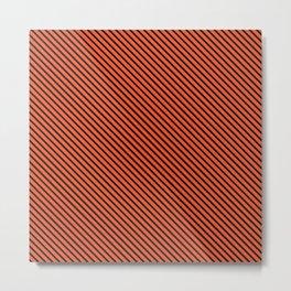 Flame and Black Stripe Metal Print